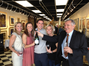 Champagne tasting at Mary Martin Gallery, Charleston, SC